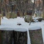 Пейнтбольная площадка Деревня (зима) - фото 02