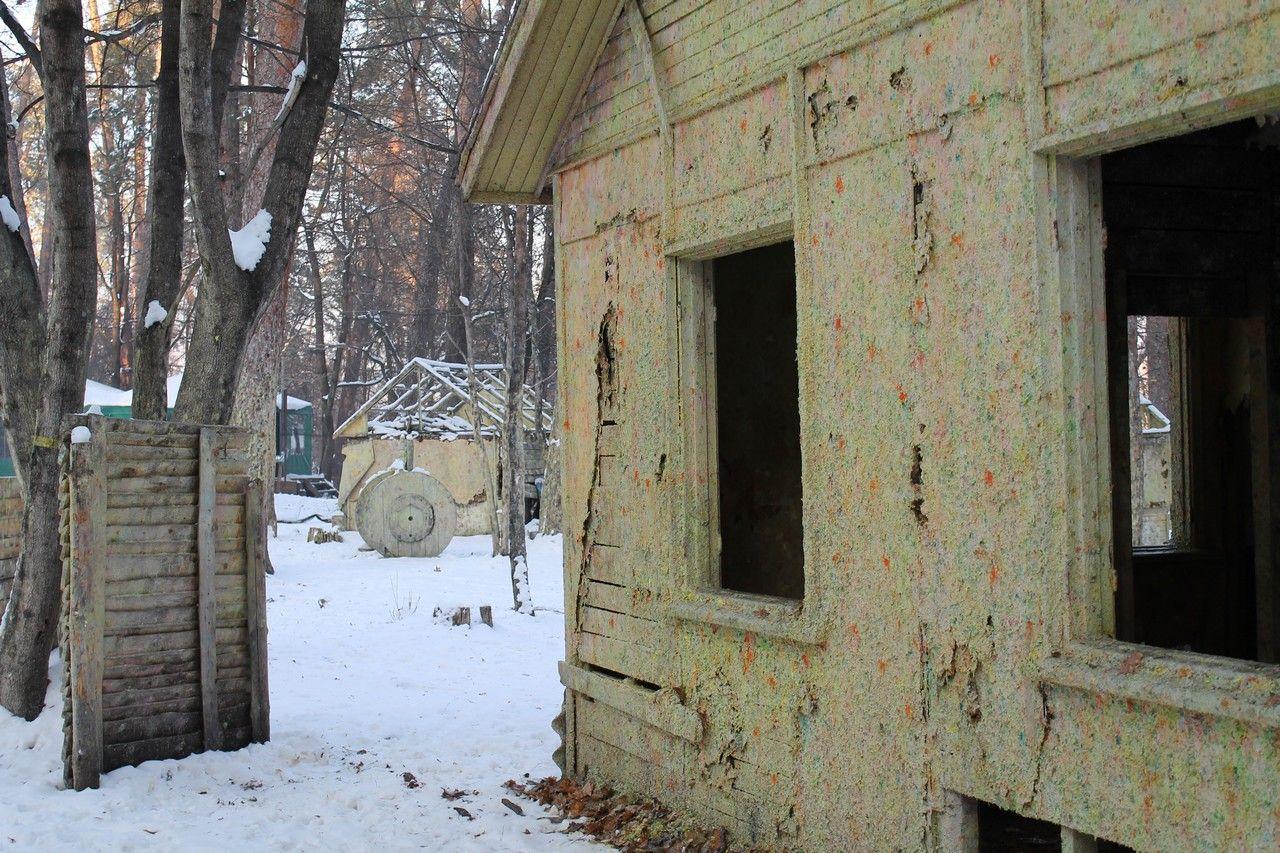 Пейнтбольная площадка Деревня (зима) - фото 06