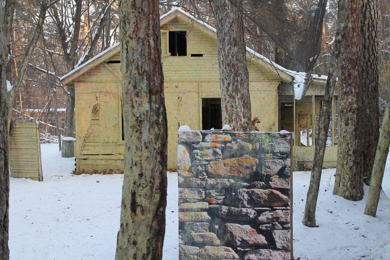 Пейнтбольная площадка Деревня (зима) - фото 07