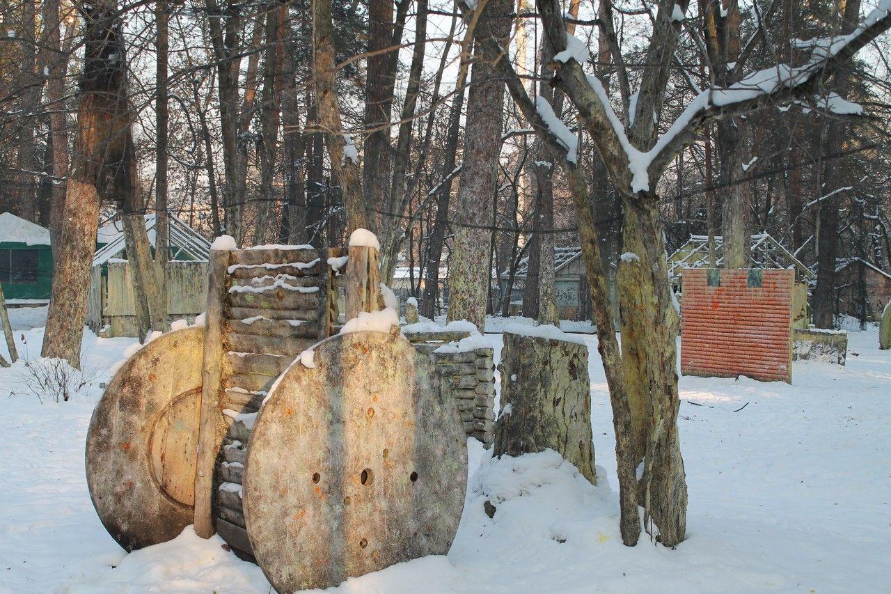 Пейнтбольная площадка Деревня (зима) - фото 08