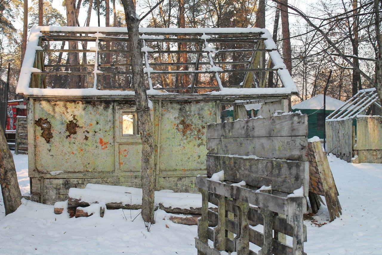 Пейнтбольная площадка Деревня (зима) - фото 09