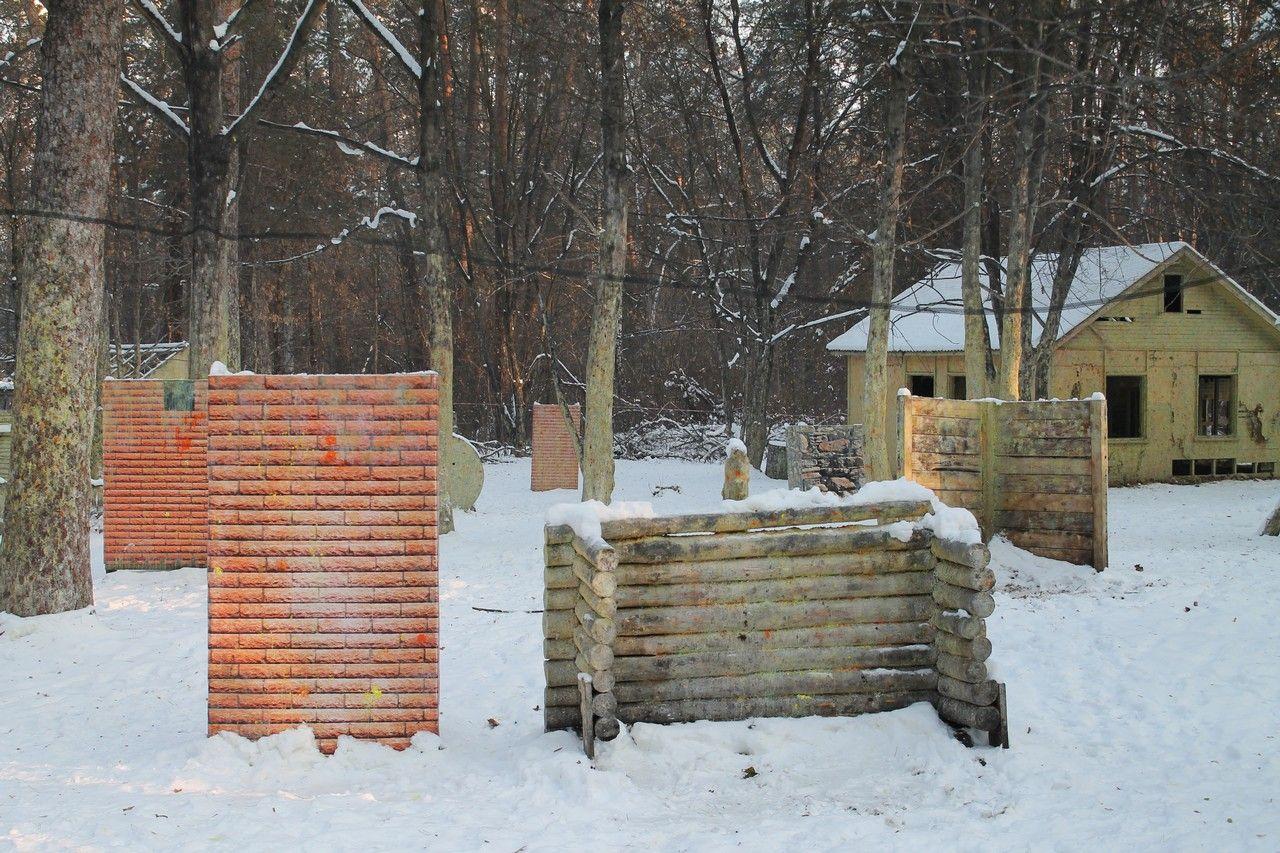 Пейнтбольная площадка Деревня (зима) - фото 10