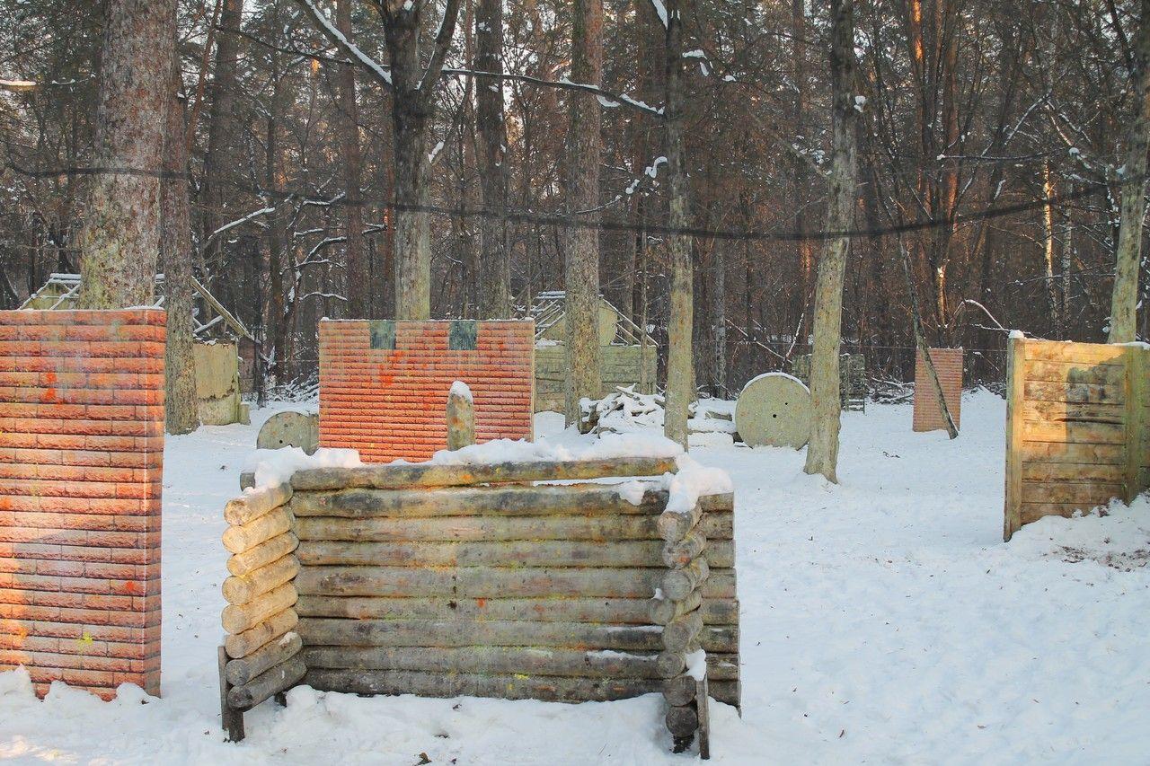 Пейнтбольная площадка Деревня (зима) - фото 12