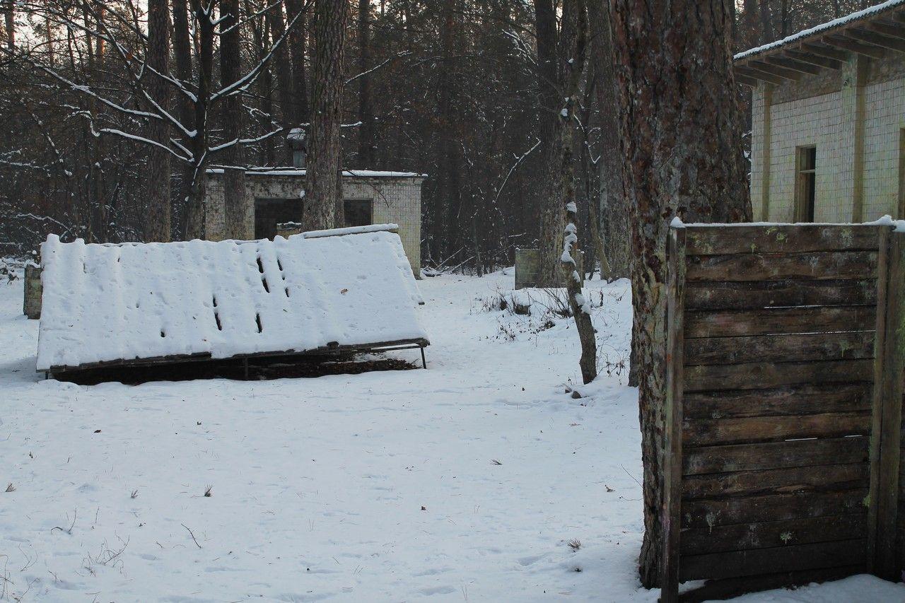 Пейнтбольная площадка Сквозняк (зима)