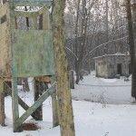 Пейнтбольная площадка Вышки (зима)